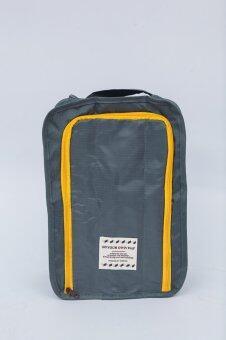 Mori กระเป๋าจัดระเบียบ กระเป๋าใส่รองเท้า ถุงใส่รองเท้า 2 คู่ Shoes Bag Shoes Organizer Bag Organizer (Grey / สีเทา) (image 4)