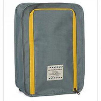 Mori กระเป๋าจัดระเบียบ กระเป๋าใส่รองเท้า ถุงใส่รองเท้า 2 คู่ Shoes Bag Shoes Organizer Bag Organizer (Grey / สีเทา) (image 1)