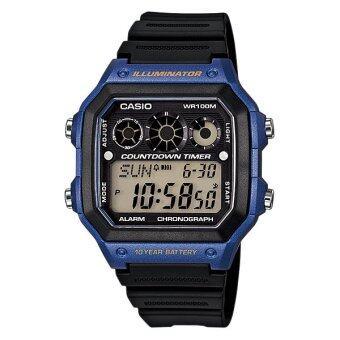Casio Standard นาฬิกาข้อมือ รุ่น AE-1300WH-2AVDF (สีดำ/น้ำเงิน)