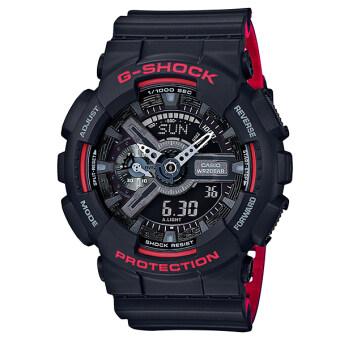 Casio G-Shock นาฬิกาข้อมือผู้ชาย สายเรซิ่น รุ่น GA-110HR-1A - สีดำ image