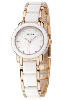 Kimio นาฬิกาข้อมือผู้หญิง สาย Alloy รุ่น K455L - สีขาว/ทอง (แถมฟรี สร้อยคอพร้อมจี้ Butterfly Wing) (image 3)