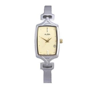 Alba นาฬิกาข้อมือผู้หญิง สีเงิน สายสแตนเลส