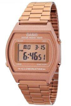 Casio Standard นาฬิกาข้อมือผู้หญิง สายแสตนเลส รุ่น B640WC-5AEF - Pink Gold