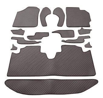 Auto-Cover พรมรถยนต์ Toyota All New Vios รุ่นปี 2013-2018 พรมกระดุม Original ชุด Full 14 ชิ้น (สีน้ำตาล)