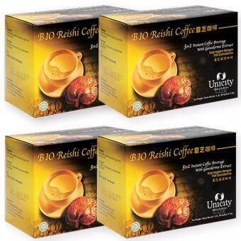 Unicity Bio Reishi Coffee Beverage ยูนิซิตี้ กาแฟผสมเห็ดหลินจือ เพื่อสุขภาพ บรรจุ 20 ซอง (4 กล่อง)