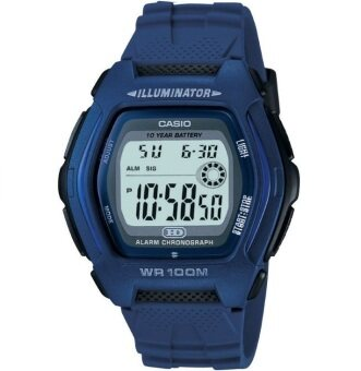 Casio นาฬิกาข้อมือชาย รุ่น HDD-600-2AV - สีน้ำเงิน