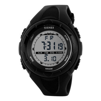 SKMEI Fashion Brand 5ATM Waterproof Fashion Children LCD Digital Stopwatch Chronograph Date Alarm Casual Sports Wrist Watch - intl image