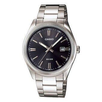 Casio Standard นาฬิกาข้อมือสุภาพบุรุษ สายสแตนเลส รุ่น MTP-1302D-1A1VDF - สีดำ image