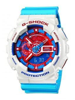 Casio นาฬิกาข้อมือผู้ชาย รุ่น GA-110AC-7ADR - สีฟ้า/แดง