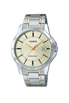 Casio Standard นาฬิกาข้อมือสุภาพบุรุษ สายสแตนเลส รุ่น MTP-V004SG-9AUDF - สีเงิน image