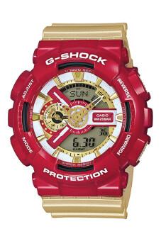 Casio G-Shock Men's Red Gold Resin Strap Watch GA-110CS-4A