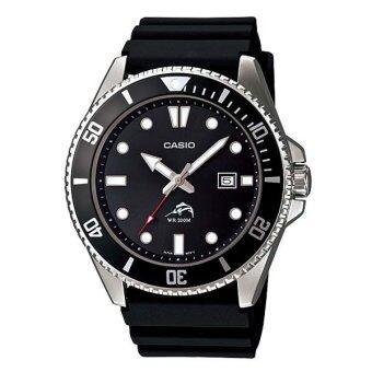 Casio นาฬิกาข้อมือ Duro 200 MDV-106-1 (สีดำ)