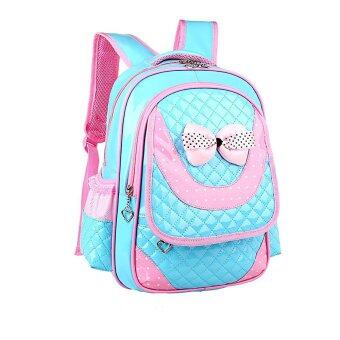 Children Shoulder Bags Backpacks Schoolbag For Primary Girl Blue