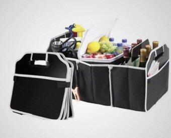 HHsociety กระเป๋าเก็บของท้ายรถ 3ช่อง พับเก็บได้พร้อมหูหิ้ว อเนกประสงค์ ( สีดํา ) (image 1)