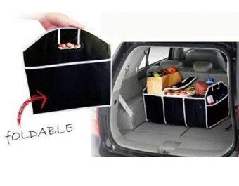 HHsociety กระเป๋าเก็บของท้ายรถ 3ช่อง พับเก็บได้พร้อมหูหิ้ว อเนกประสงค์ ( สีดํา ) (image 2)