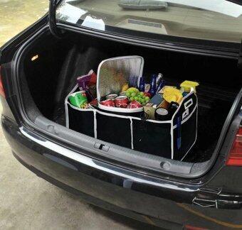 HHsociety กระเป๋าเก็บของท้ายรถ 3ช่อง พับเก็บได้พร้อมหูหิ้ว อเนกประสงค์ ( สีดํา ) (image 3)