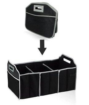 HHsociety กระเป๋าเก็บของท้ายรถ 3ช่อง พับเก็บได้พร้อมหูหิ้ว อเนกประสงค์ ( สีดํา ) (image 4)
