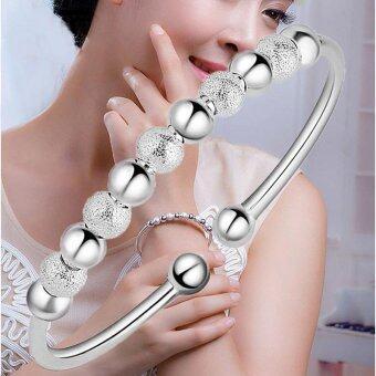 925 Sterling Silver Lucky 9 Beads Bracelet & Bangles Opening Bracelets for Women - intl