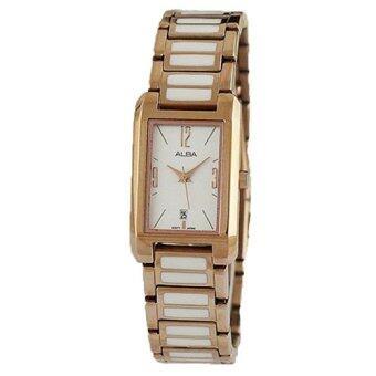 ALBA นาฬิกาข้อมือผู้หญิง สายสแตนเลสสลับเซรามิก รุ่น