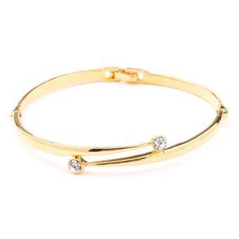 W-Jewelry กำไล ข้อมือประดับคริสตัล Austria รุ่น B0045 (สีทอง)