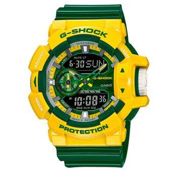 Casio G-Shock นาฬิกาข้อมือผู้ชาย สายเรซิ่น รุ่น GA-400CS-9A - สีเหลือง/เขียว image