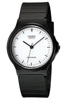 Casio Standard นาฬิกาข้อมือสุภาพบุรุษ สีดำ สายเรซิ่น รุ่น MQ-24-7ELDF image
