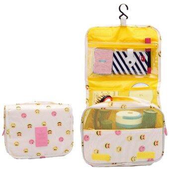 กระเป๋าเครื่องสำอางค์ ใส่อุปกรณ์อาบน้ำ กระเป๋าอเนกประสงค์ (yellow smiley face)