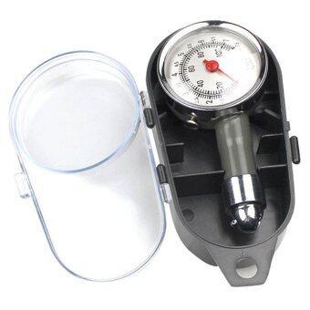 BEST เครืองวัดความดันลมยางหน้าปัดขาว รุ่น Tyre Tire Pressure Gauge Meter (สีดำ)