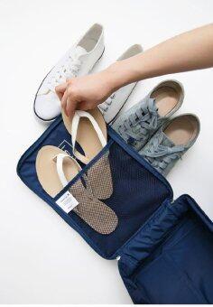 PACRO กระเป๋าใส่รองเท้า สำหรับเดินทาง 3 คู่ (สีชมพู) (image 3)