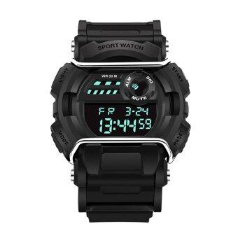 2016 High Quality New Arrival Men's Fashion Outdoor Sports Waterproof Digital Display Watch(black) image