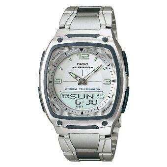 Casio Standard นาฬิกาข้อมือผู้ชาย สีดำ สายแสตนเลส รุ่น AW-81D-7A image