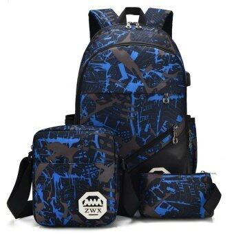 Dingmao Backpack bag bag, female male junior middle school students of Korean high school students of Oxford leisure air spinning backpack (buy 1 get 3 free)- (Intl)
