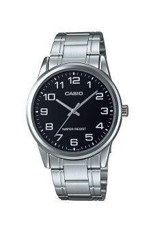 Casio Standard นาฬิกาข้อมือสุภาพบุรุษ สายแสตนเลส รุ่น MTP-V001D-1BUDF - สีดำ image