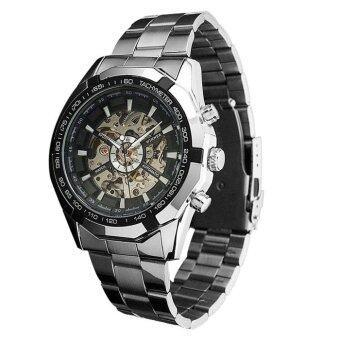เครื่องนาฬิกาข้อมือแบบบุรุษสีดำ