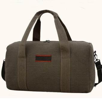 Fashion Large Capacity Canvas Men Women Duffle Big Travel Luggage Handbag Khaki · >>>>