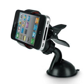 Moonar ยึดมือถือจีพีเอสสำหรับรถมินิ ABS Mobile ซิลิโคนประเภทโทรศัพท์รองรับจีพีเอสตัวดูด (สีดำ)