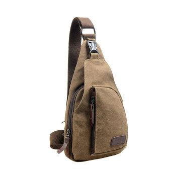 กระเป๋าเป้ผ้าใบรบกวนกระเป๋าสะพาย Crossbody Ches กาแฟ