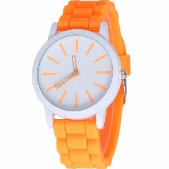 MEGA Sport Quartz Fashion F1 Racing Military Army Wristwatches หรูหรานาฬิกาข้อมือ สายหนัง กันน้ำ รุ่น MG0017 (Blue)(ฟรี Colorful Quartz Waterproof Silicon Strap Young Fashion Watch)(Black) (image 2)