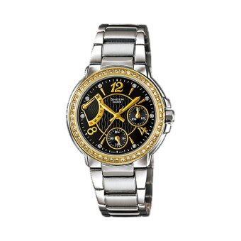 Casio Sheen Chronograph นาฬิกาข้อมือ รุ่น SHE-3008SG-1A (Silver/Black)