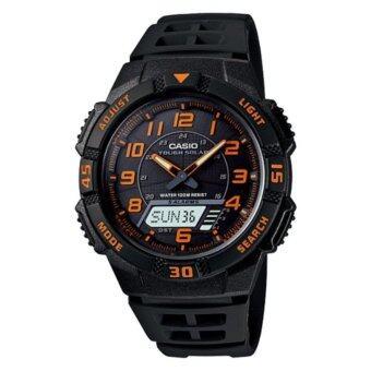 Casio standard Solar Power นาฬิกาข้อมือผู้ชาย สายเรซิ่น รุ่น AQ-S800W-1B2V - Black