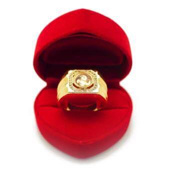Bewi-G แหวนผู้ชาย แหวนกังหันนำโชคแชกงหมิว ประดับเพชร รุ่น BG-R0031-GD สีทอง