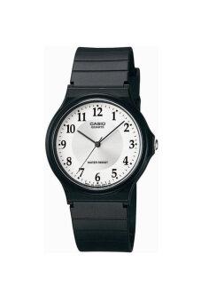 Casio Standard นาฬิกาข้อมือสุภาพบุรุษ สายเรซิ่น รุ่น MQ-24-7B3LDF - สีดำ image
