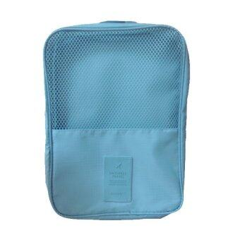 Look Good Shop กระเป๋าใส่รองเท้า สำหรับเดินทาง กันน้ำได้ - Light Blue