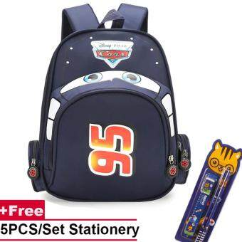 Kids Kindergarten Bag 3D Cartoon Car Boys School Backpack