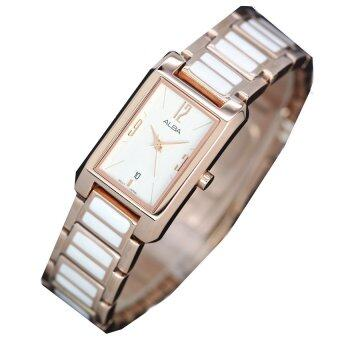 Alba นาฬิกาข้อมือผู้หญิง -Pink Gokd