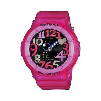 Casio baby-G นาฬิกาข้อมือผู้หญิง สีชมพู สายยาง รุ่น BGA-131-4B4