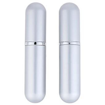 2pcs Convenient Aluminum High-grade Metal Cosmetics Travel Portable Perfume Bottle (Silver)