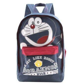 Doraemon กระเป๋าเป้ กระเป๋านักเรียน สะพายหลัง (สีกรม)