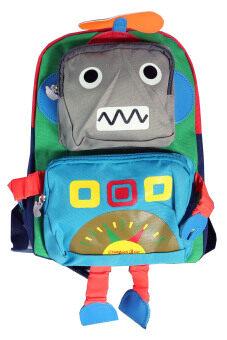 กระเป๋านักเรียน กระเป๋าเด็กอนุบาล รูปหุ่นยนต์ (สีฟ้า)