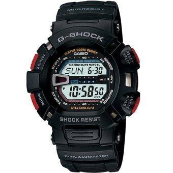 Casio G-Shock นาฬิกาข้อมือผู้ชาย สีดำ สายเรซิ่น รุ่น G-9000-1 image